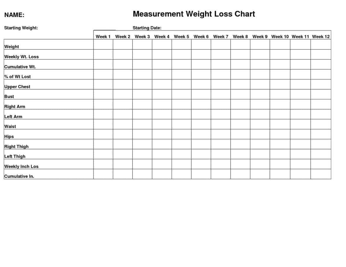 5  body measurement and weight trackers  u2013 word templates