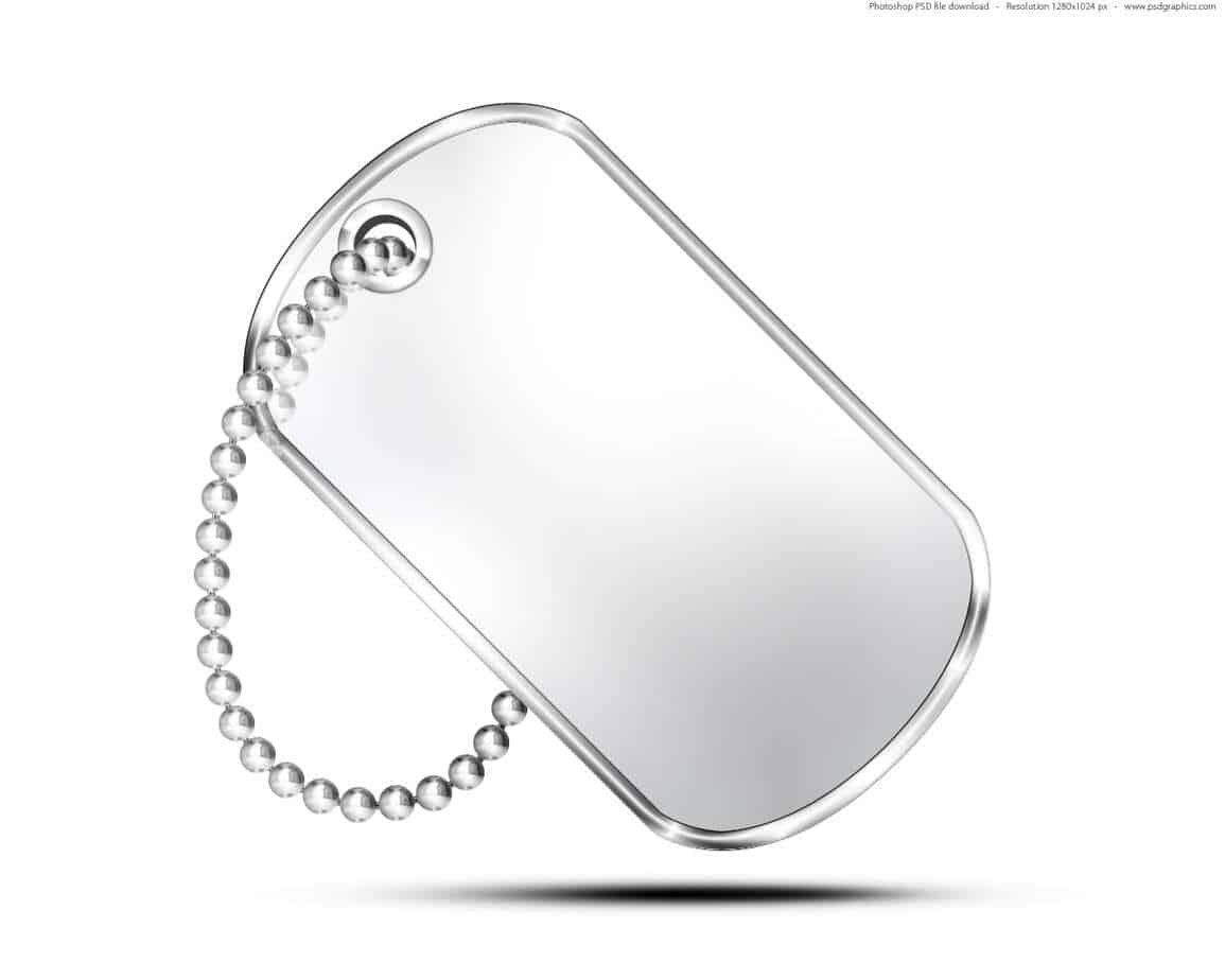 Dog Tag Template 303