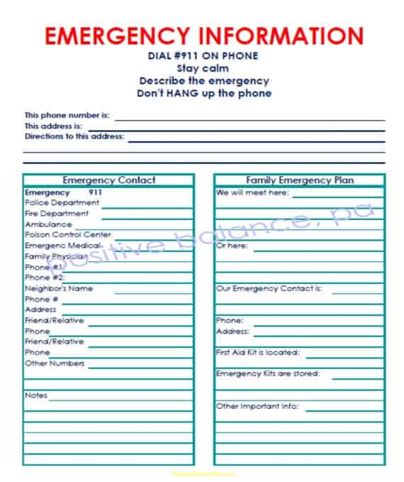 5  Emergency Contact List Templates  U2013 Word Templates
