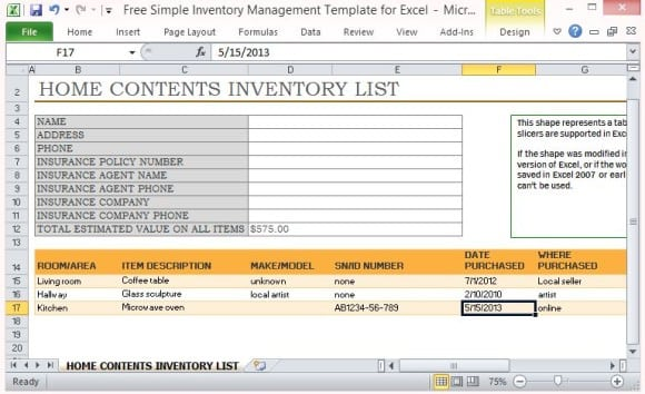 Content List Template from www.excelwordtemplate.net