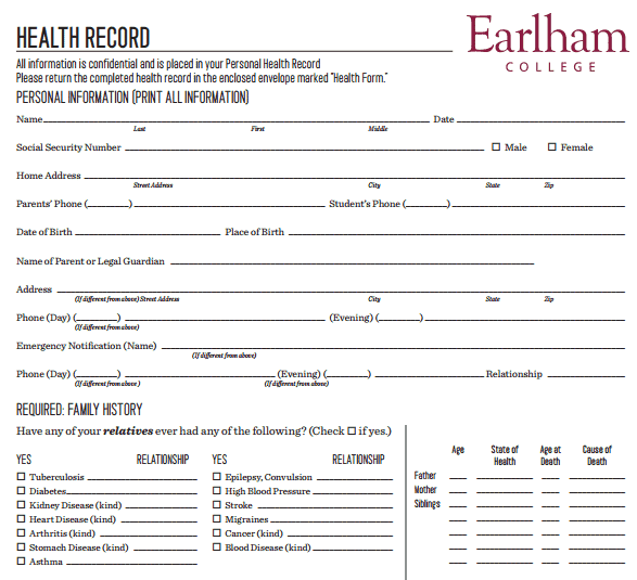 4+ Personal Medical Health Record Sheets - Word Templates