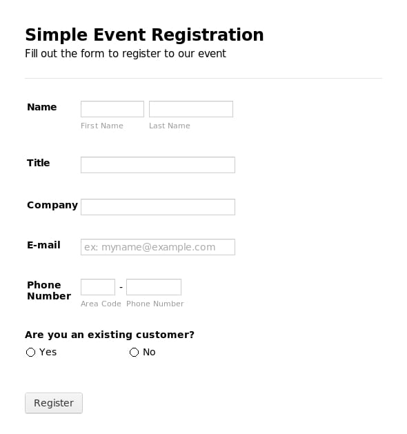 graphic regarding Printable Registration Form Template named 5+ Registration Kind Templates Term Term Templates
