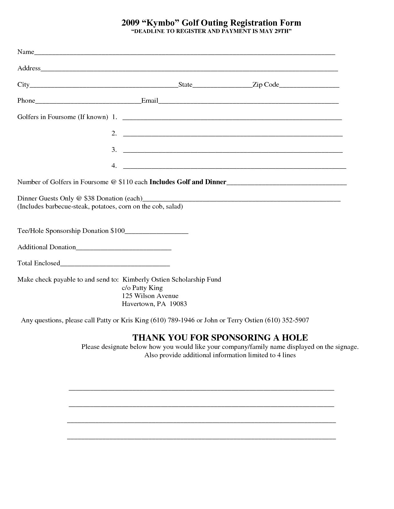 registration form templates for word