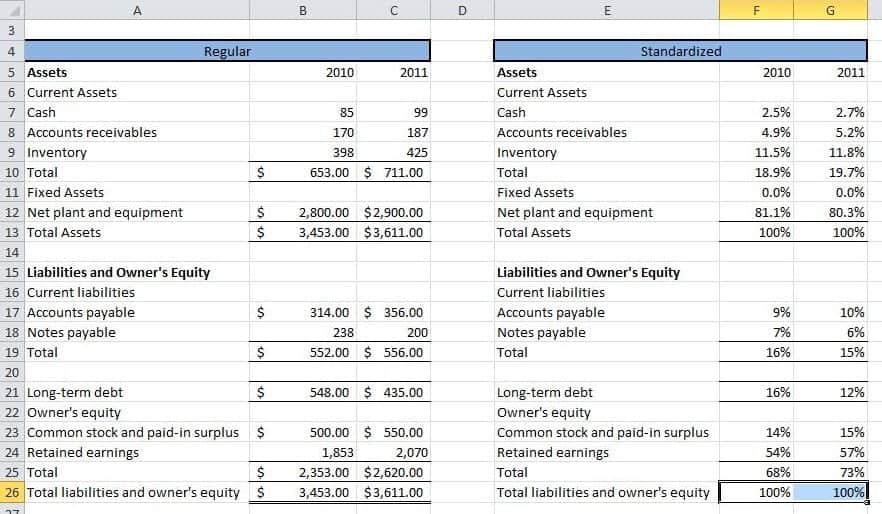 Balance Sheet With Financial Ratio Template 331 S