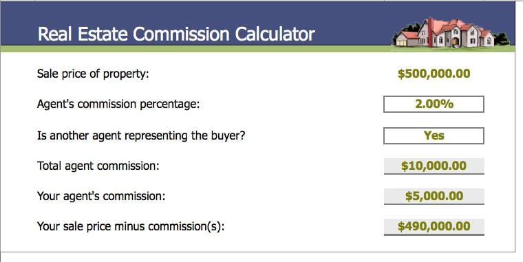 4 real estate commission calculators word templates